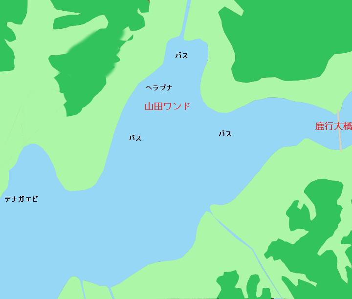 北浦のポイント 山田ワンド付近(行方市、鉾田市)