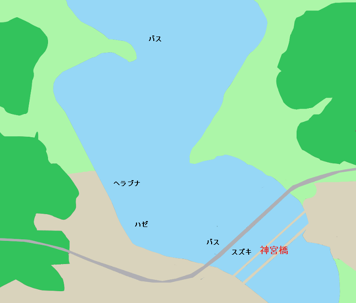 北浦のポイント 神宮橋周辺(潮来市、鹿島市)
