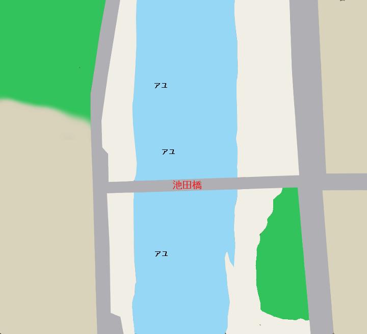 久慈川のポイント 池田橋周辺(茨城県久慈郡大子町)