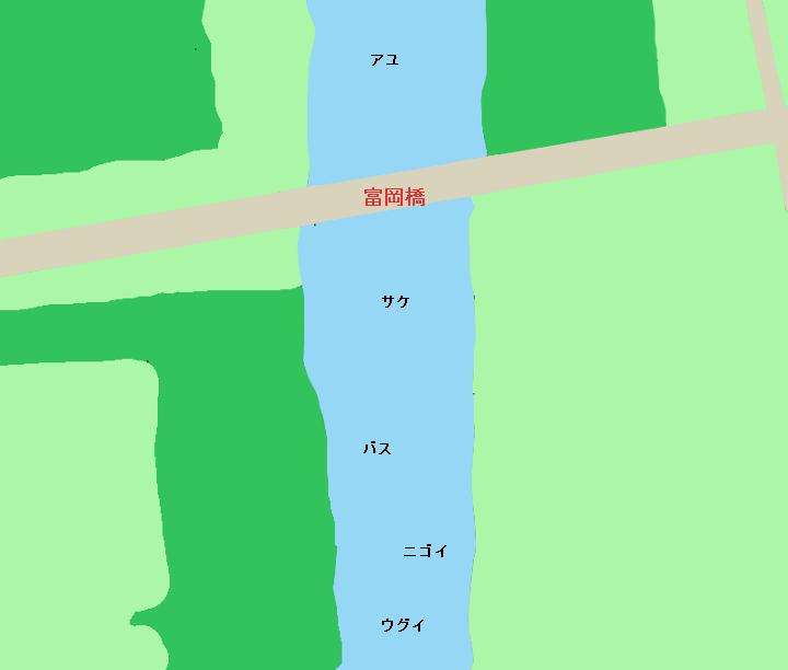 久慈川 富岡橋周辺のポイント
