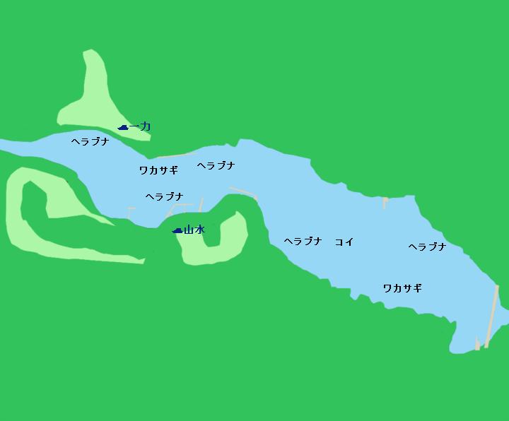 間瀬湖ポイント図
