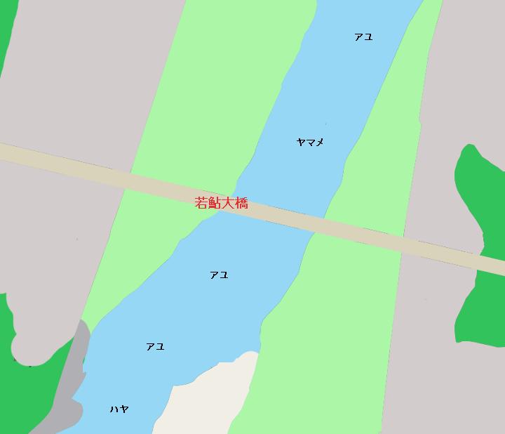 那珂川若鮎大橋周辺のポイント(栃木県那須郡那珂川町)