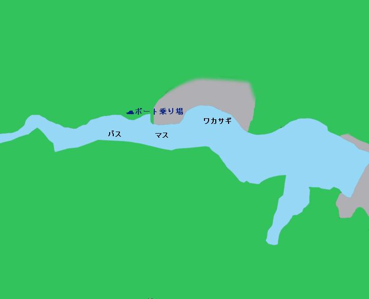 名栗湖ポイント図