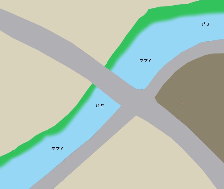 成木川平和橋付近のポイント