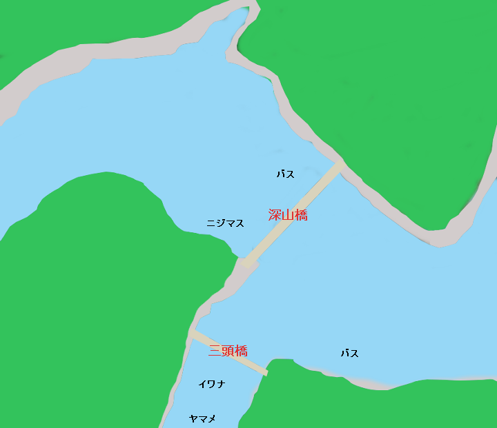 奥多摩湖深山橋周辺のポイント