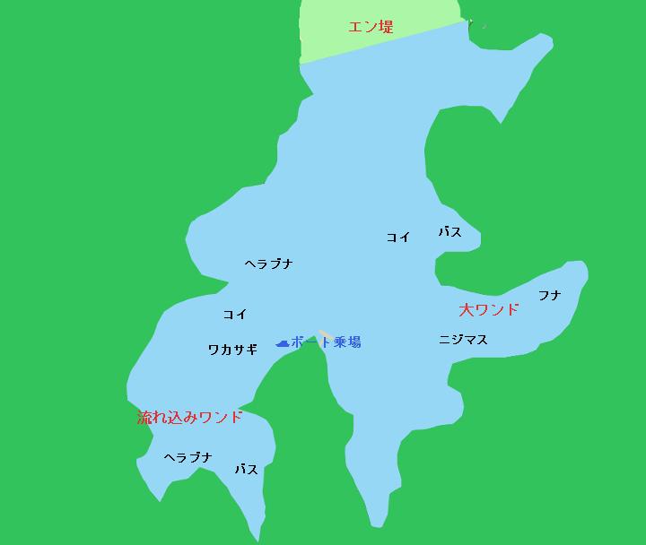 大塩湖ポイント図