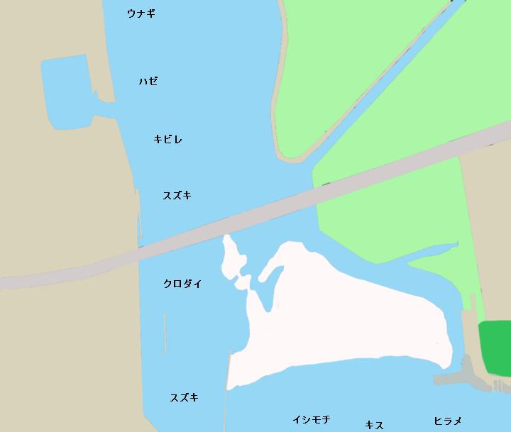 相模川河口ポイント図