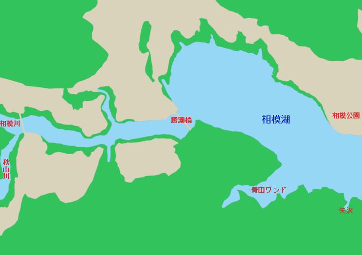 相模湖ポイントマップ