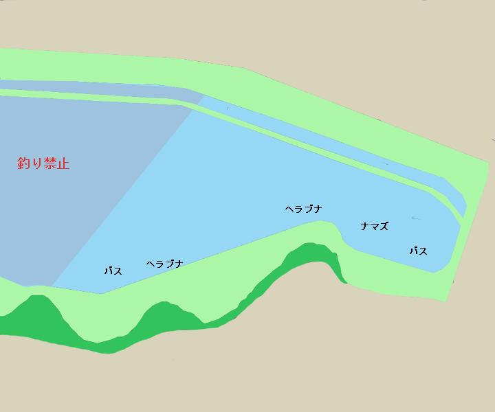 千波湖ポイント図