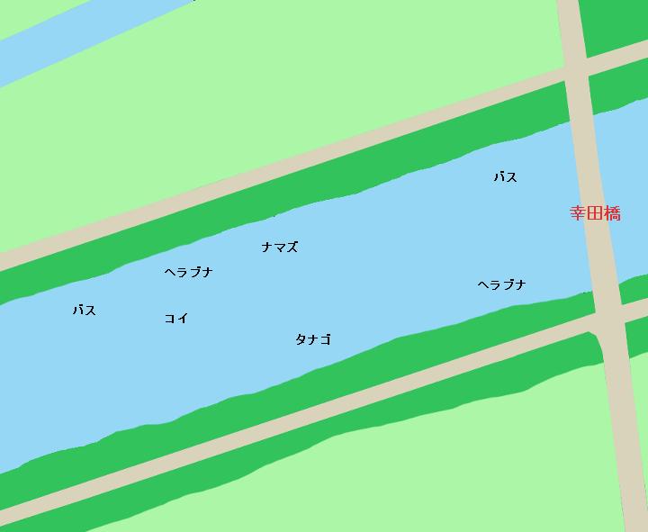 新利根川幸田橋周辺のポイント