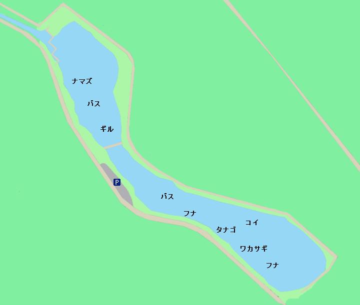 柴山沼ポイント図