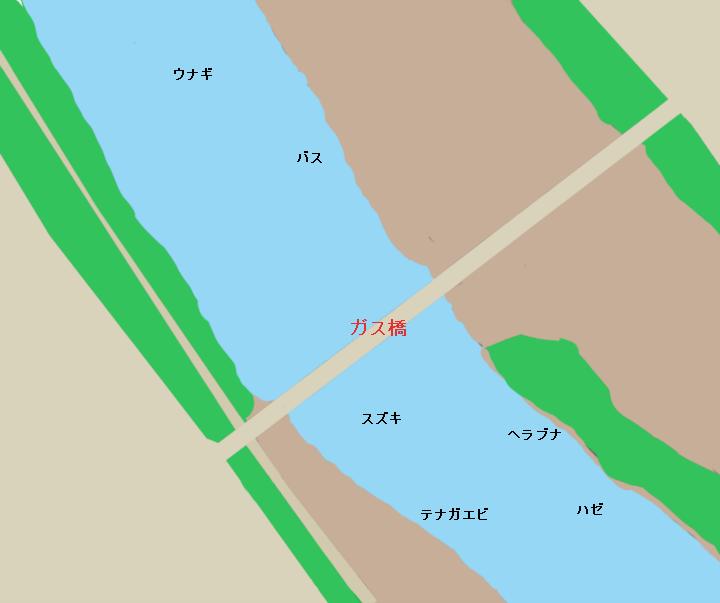 多摩川ガス橋付近(川崎市平間、大田区下丸子など)のポイント