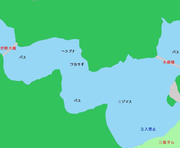 丹沢湖 永歳橋~世附大橋のポイント