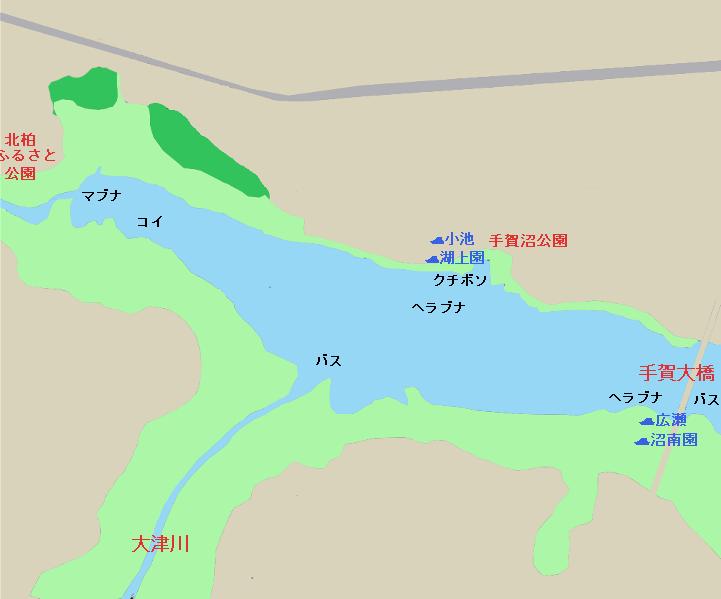 手賀沼 柏ふるさと公園~手賀大橋のポイント