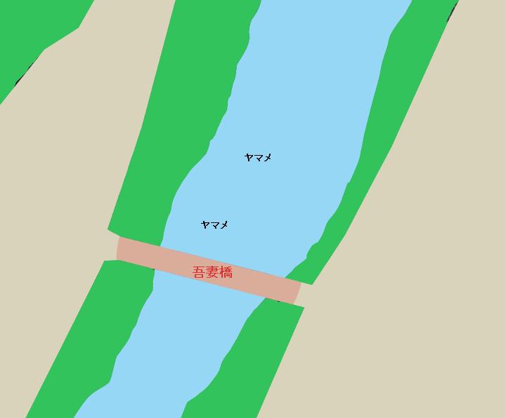 利根川吾妻橋周辺のポイント(群馬県利根郡みなかみ町)