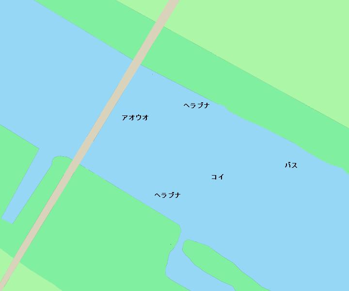 利根川長豊橋周辺のポイント(千葉県成田市、茨城県稲敷郡)