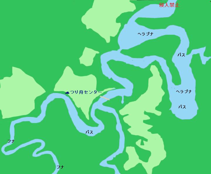 豊英湖ポイント図