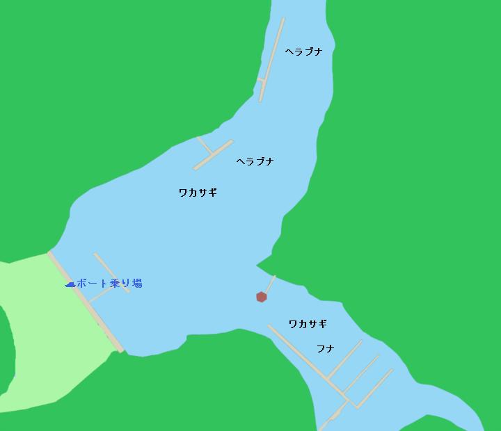 円良田湖ポイント図