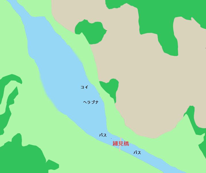 牛久沼のポイント 西谷田川橋細見橋周辺