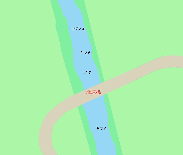 八溝川北原橋周辺のポイント