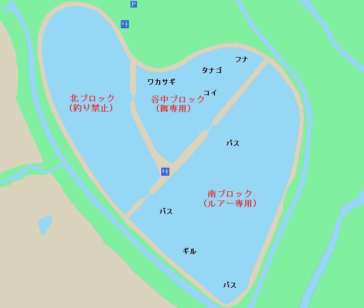 谷中湖ポイント図