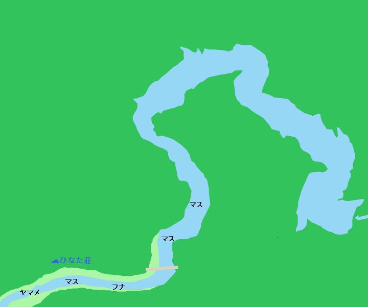 八汐湖ポイント図
