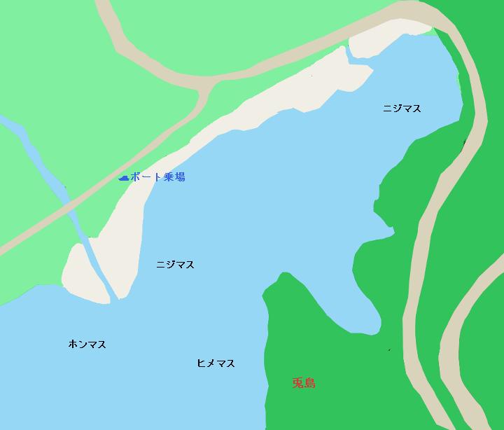 湯ノ湖ボート乗り場周辺のポイント