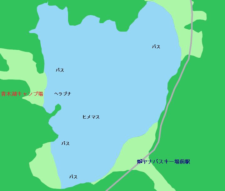 青木湖ポイント図