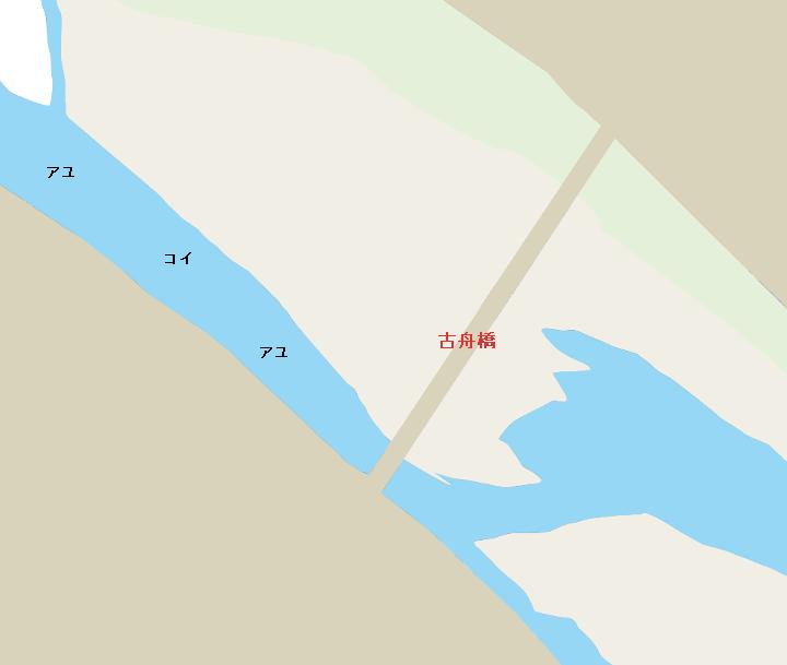 千曲川古舟橋周辺のポイント(上田市)