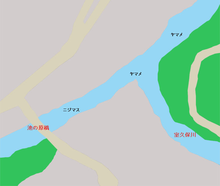 道志川 室久保川出合付近のポイント