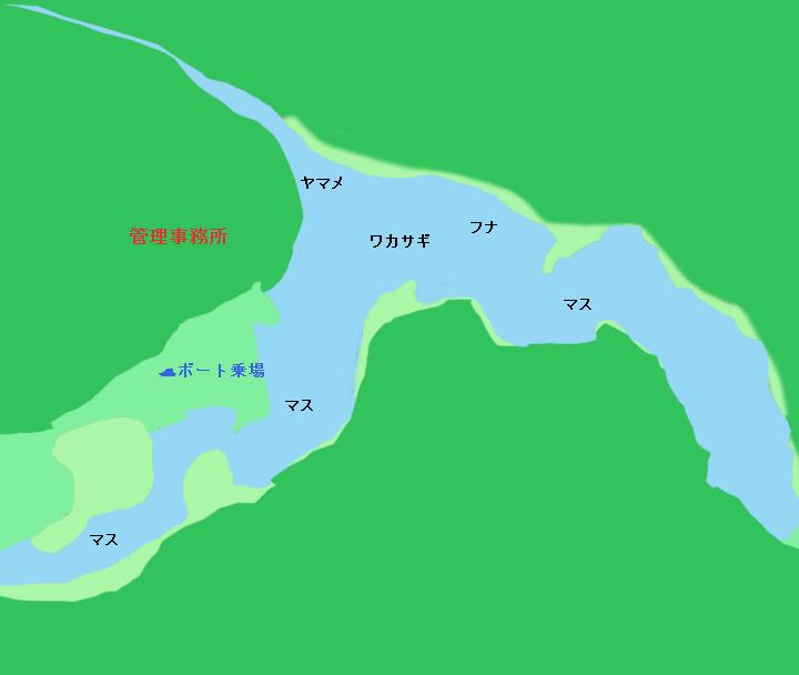 東古屋湖ポイント図