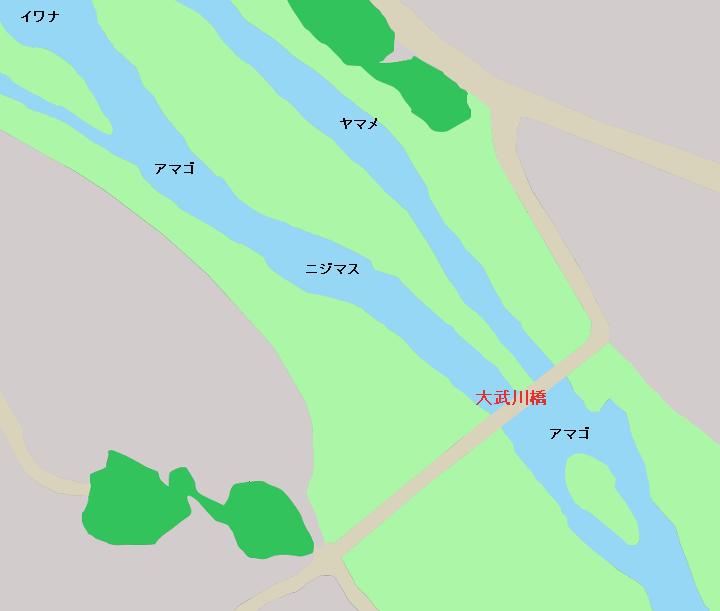釜無川 大武川橋周辺のポイント