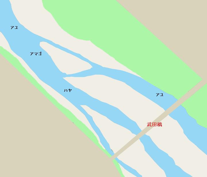 釜無川武田橋周辺のポイント
