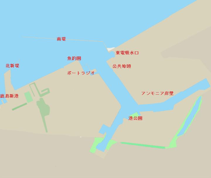 鹿島港のポイント全景