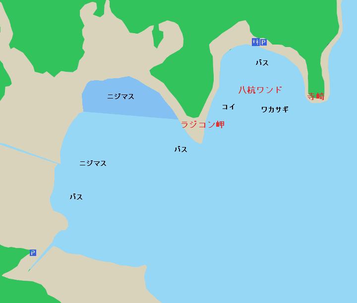 河口湖のポイント 長浜・西湖放水口・八杭ワンド周辺