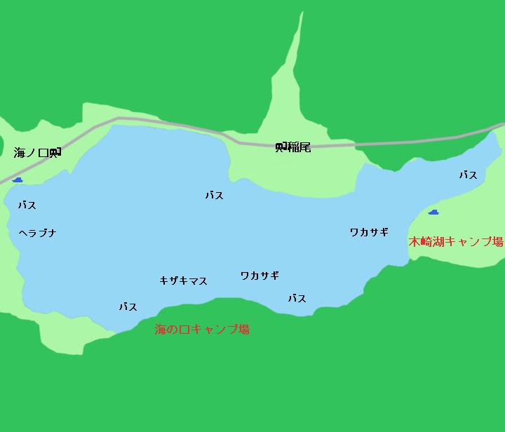 木崎湖ポイント図