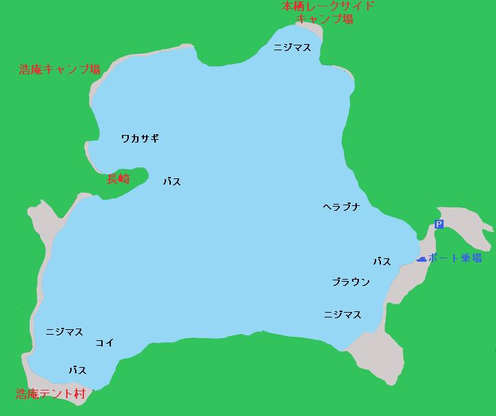 本栖湖ポイント図