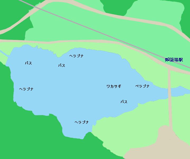 中綱湖ポイント図