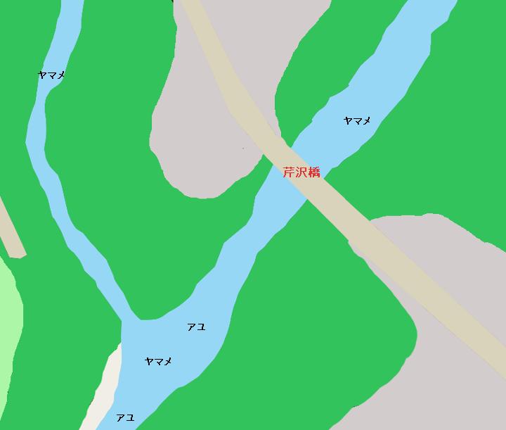 男鹿川芹沢橋周辺のポイント