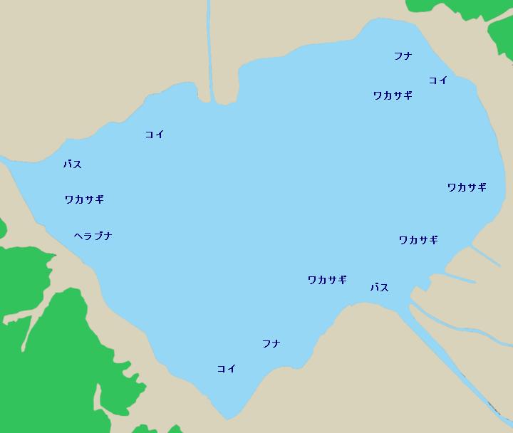 諏訪湖ポイント図