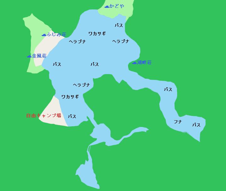 精進湖ポイント図