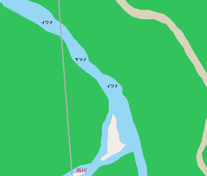 千曲川 西川出合付近のポイント(南佐久郡南牧村)