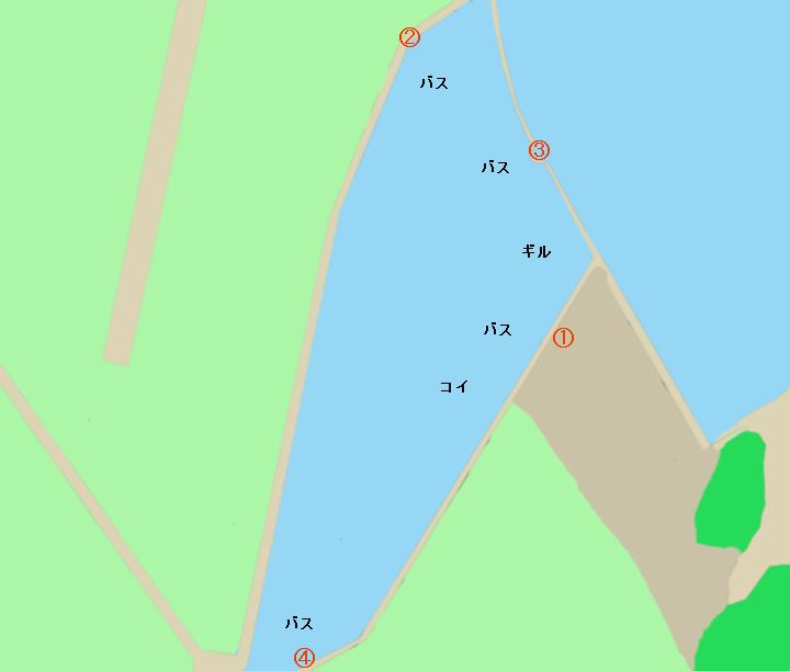 七区貯水池ポイント図