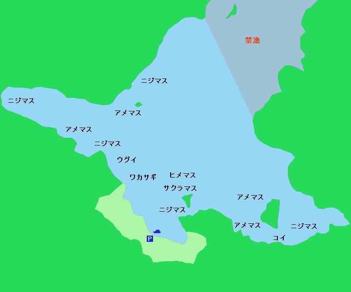 阿寒湖ポイント図