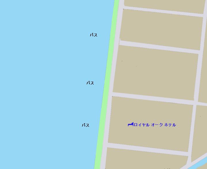 琵琶湖ロイヤルオークホテル前のポイント