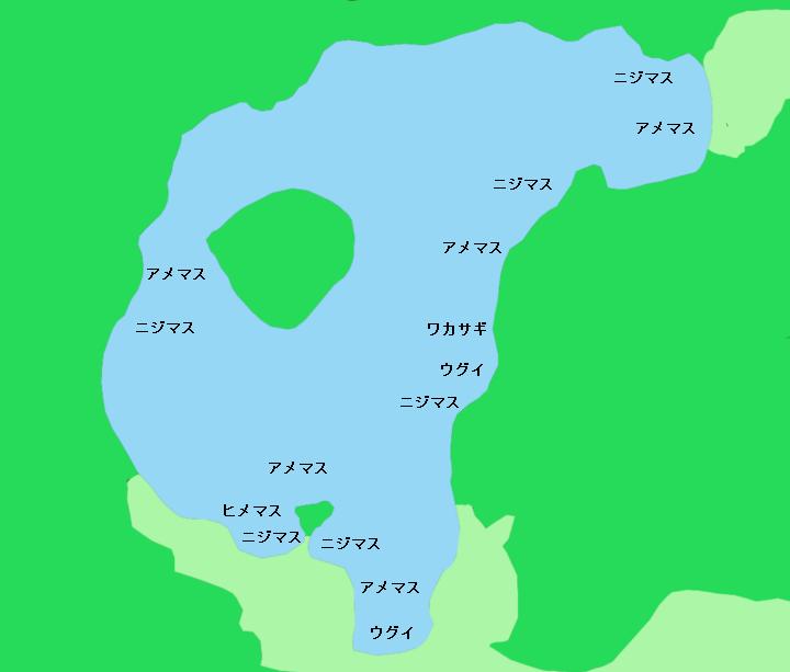 屈斜路湖ポイント図