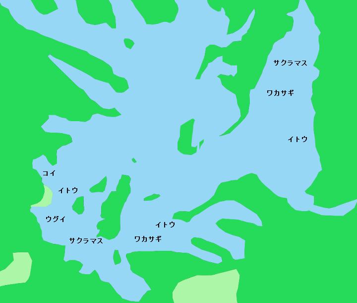 朱鞠内湖ポイント図