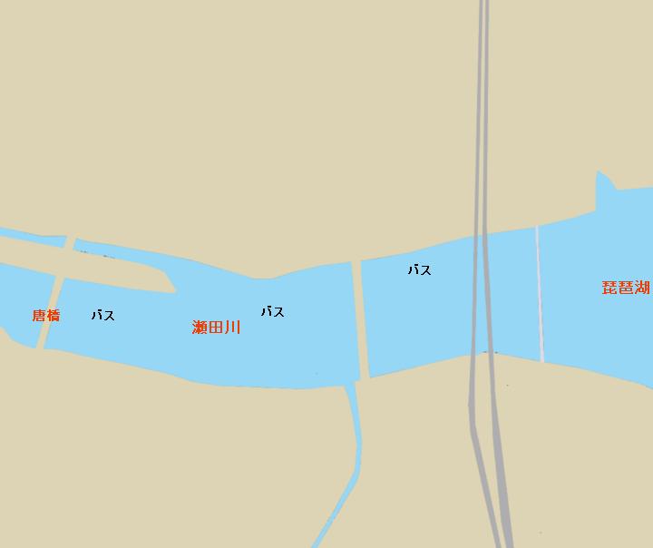 琵琶湖瀬田川河口のポイント