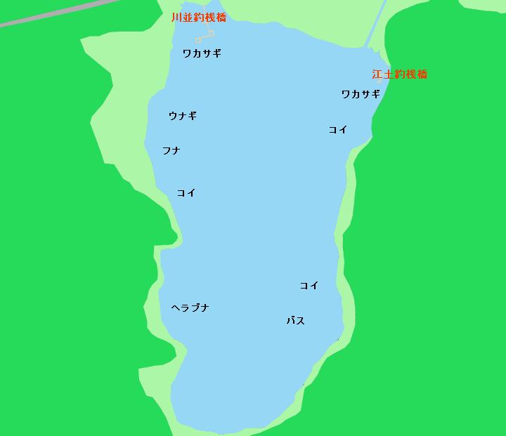 余呉湖ポイント図