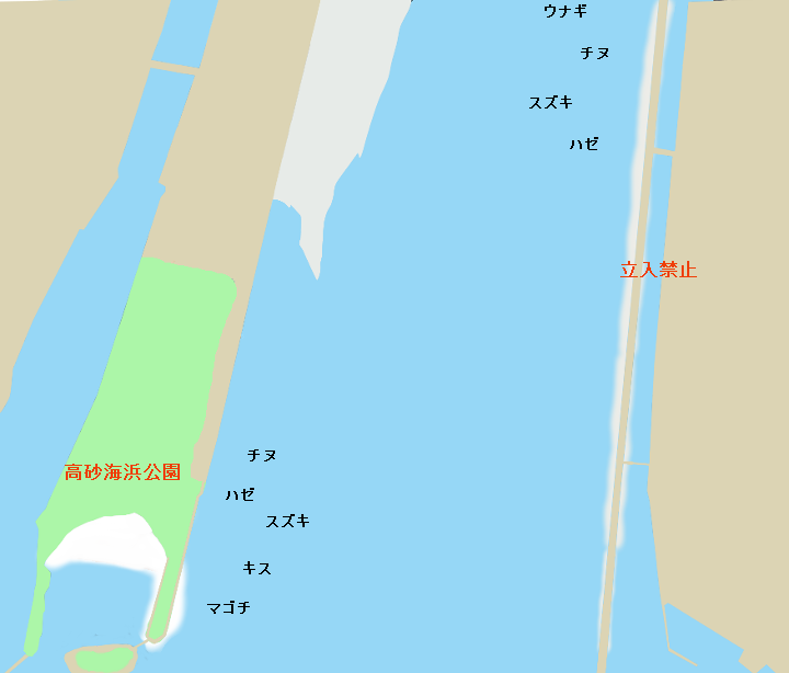 加古川河口・高砂海浜公園のポイント